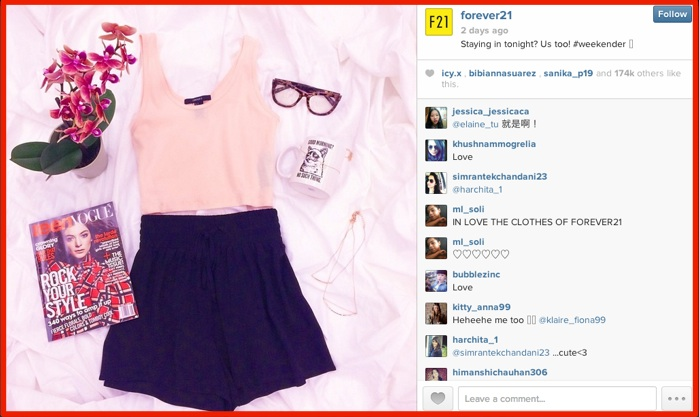 Instagram Visual Content Marketing – Forever 21