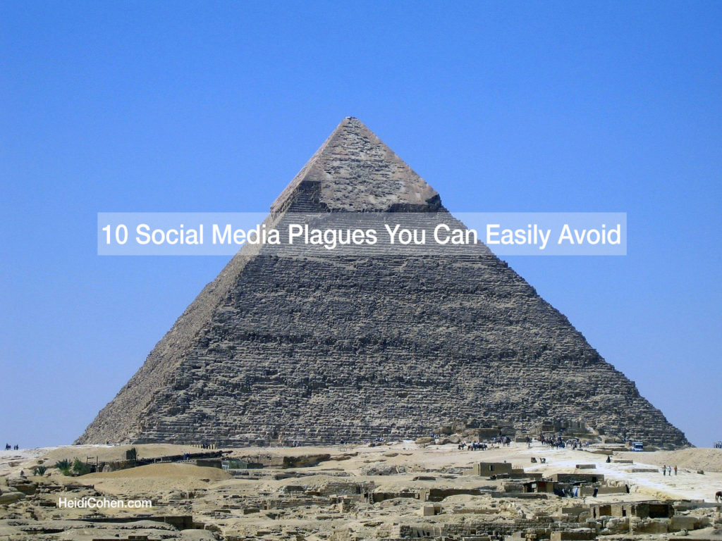 10 social media plagues