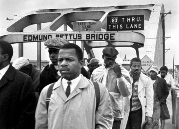 John Lewis at Edmund Pettus Bridge
