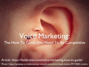 Voice Marketing: The How To Guide You Need To Be Competitive
