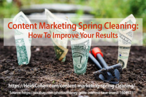Content Marketing Spring Cleaning