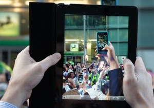 tablet photo of smartphone photo